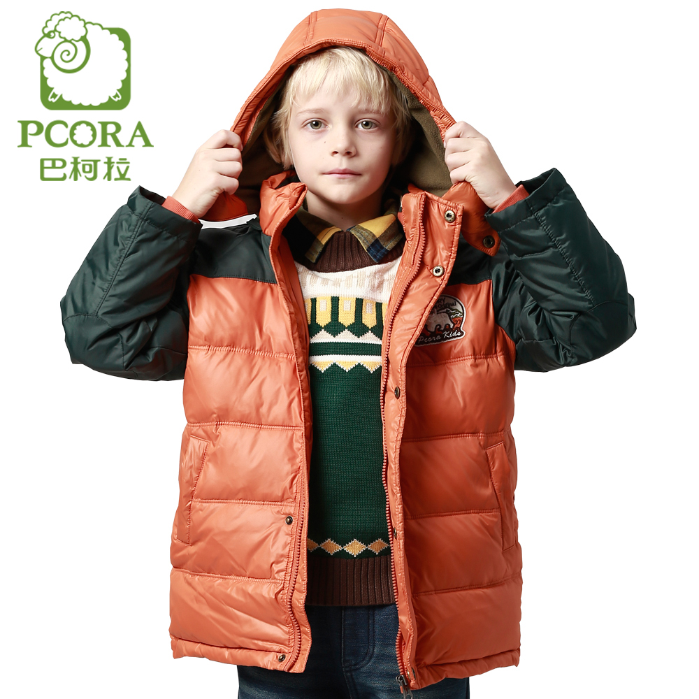 PCORA Winter Jackets for Boys Hooded Down Coat Kids Male Child Clothes Warm  White Duck Down Thick Zipper Boys Outerwear Parkas