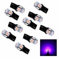 PA 20 개 x T10 194 5SMD 5050 LED 자동 자동차 측광 테일 라이트 램프 전구 핑크 12 볼트