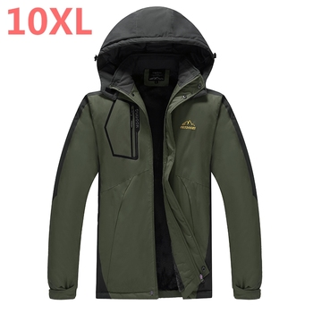 NEW 12XL 10XL 9XL 8XL Men Winter Jacket Coat Quality Cotton Padded Windproof Thick Warm Soft Brand Clothing Hooded Male Parkas