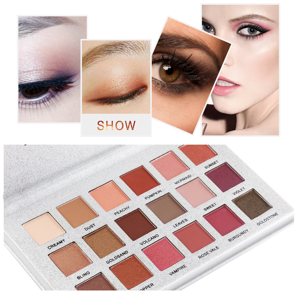 Beauty Essentials New Hot Popular 18 Color Marble Eyeshadow Palette Professional Fashion Makeup Eye Shadow Palette Cosmetic Set Eye Shadow Beauty High Quality Goods Eye Shadow