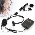 Manos libres Clip de micrófono de solapa + Headset estudio micrófono inalámbrico de FM transmisor y Kits de receptor para el profesor servidor