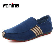 Summer Fashion Korean Male Casual Loafers Slip On Breathable Casual Men Shoes Solid Rounded Toe Flock Shoes for Men 167