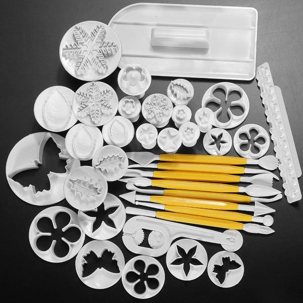 Gratis frakt 12 Satser Fondantkaka Dekoreringsverktyg DIY Kakor Socker Hantverk Plunger Cutters Verktyg Tårta Dekoreringsverktyg