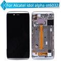 Для Alcatel One Touch Idol Alpha OT6032 6032 ЖК-Дисплей С Сенсорным Экраном Дигитайзер Ассамблеи с Рамкой