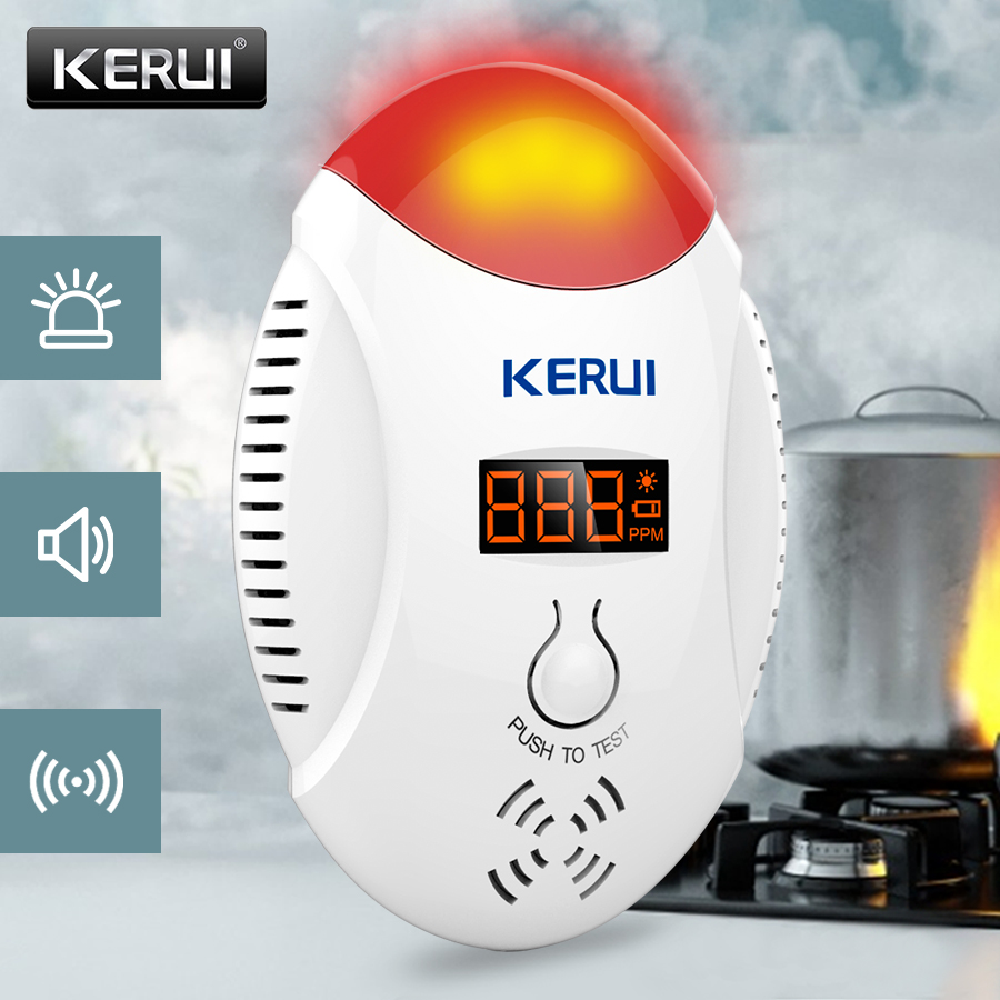 KERUI Sensitive Gas Concentration Detection Alarm System Carbon Monoxide Concentration Monitoring Voice Alarm System