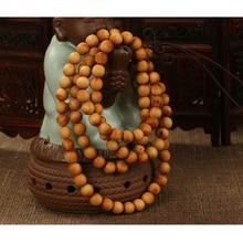Cindiry 108*8mm/ 108*6mm New Natural Sandalwood Buddhist Wenge Prayer Beads Bracelet Weed Bangle Women Men Jewelry