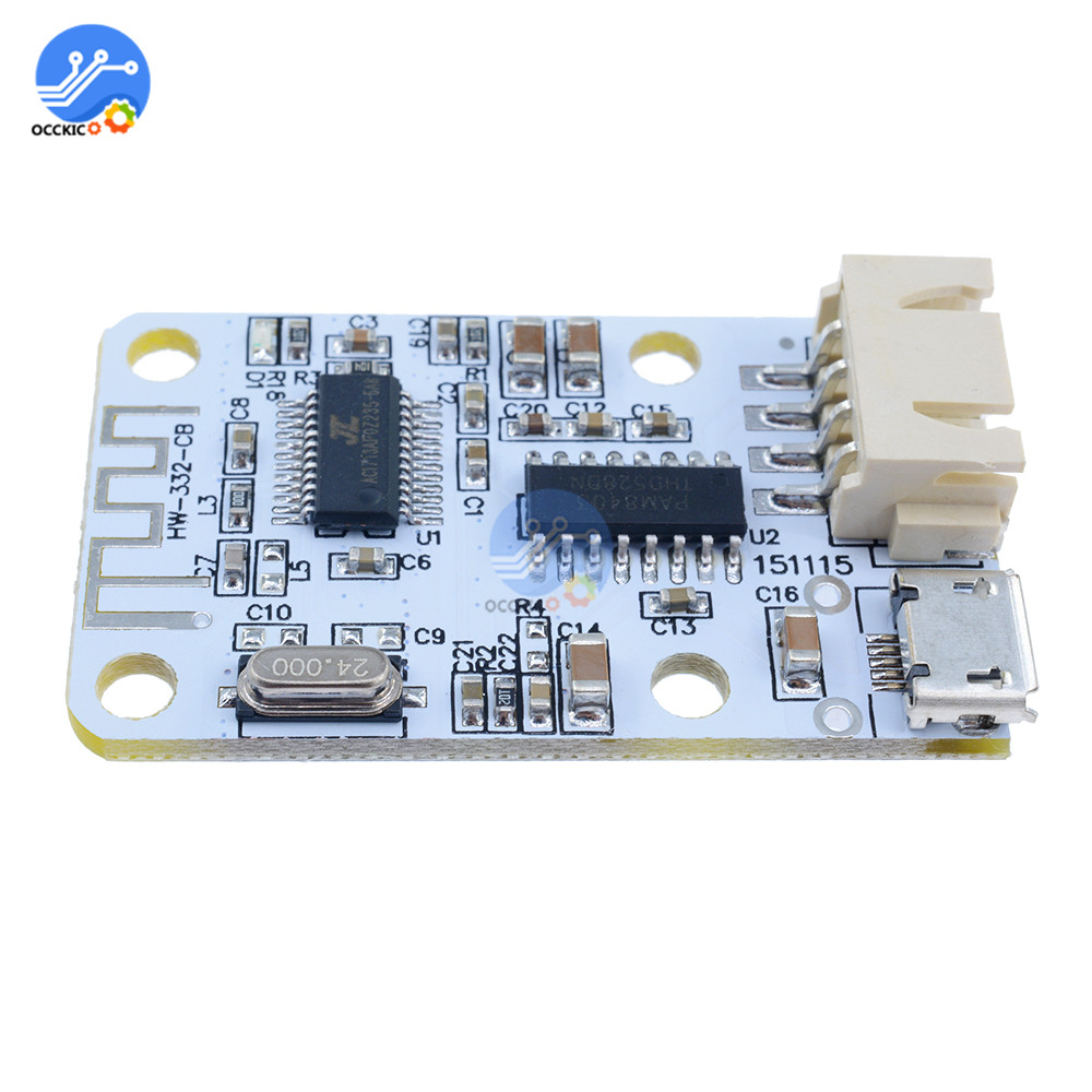 DC 5V Digital Audio Amplifier Board Bluetooth Receiver Stereo Output Speaker Sound Music Module Modulo Amplificador title=