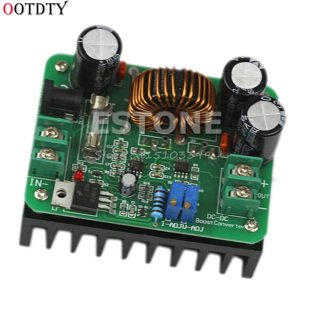 OOTDTY 600W DC 10V-60V to 12V 24V 36V 48V 80V <font><b>10A</b></font> Converter Step-up Module Power Supply Drop Ship image