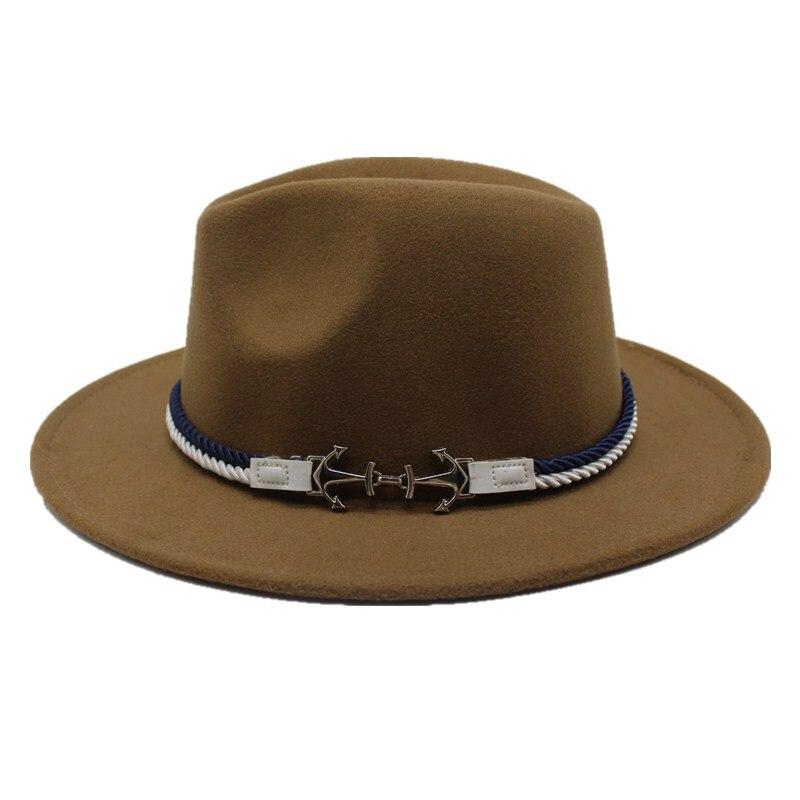 5070bd623df Hot Sale] Seioum Spring Wide Brim Fedora Men Women Vintage Jazz Hats ...