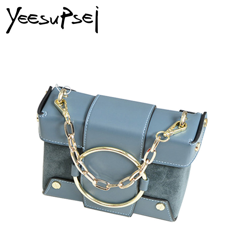 YeeSupSei Women Soft Leather Square Box Bag Famous Brand Clutch Bag Luxury Flap Shoulder Bag Women Golden Lock Chain Box Bag yeesupsei daily bag women leather handbag golden chain small women messenger bag candy color women shoulder bag party lock purse