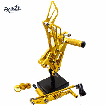 CNC Motorcycle Footrest Rear Set Foot Pegs Rest Footpegs Pedals Rearset For Yamaha YZF R1 YZFR1 2007-2008 Foot Accessories