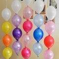 Neo 100 pieces/lot 6 pulgadas de látex globos fiesta de cumpleaños de vacaciones decoración de la boda de la cola de la aguja globo de color de polvo de perla