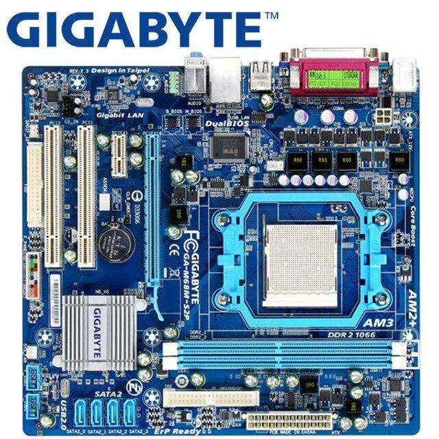 GIGABYTE GA-M68M-S2P De Bureau Carte Mère 630A Prise AM2/AM2 + AM3 Pour Phenom II Athlon II Sempron 100 DDR2 8G Utilisé