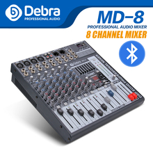Good quality, Clean sound!!! 8 Channels Mixer Digital Audio dj controller with 48V Phantom Power USB Slot for Recording Stage