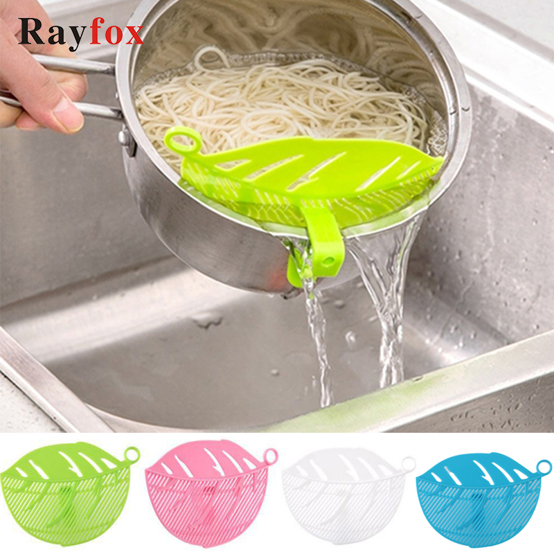 Kitchen accessories leaf shape clean rice wash sieve beans peas kitchen gadgets cleaning cooking tools kitchen utensils goods