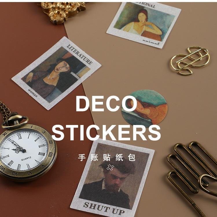 20pcs/pack Fun Famous Painting Scrapbook Sticker Album Decor Diy Diary Album Stick Label Scrapbooking Sticker