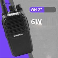Новый WH27B Профессиональные Walkie Talkie 3800 мАч 6 Вт Портативный Хэм двухстороннее радио 403 470 мГц Частота 1,5 6 км вызова диапазон пейджерам