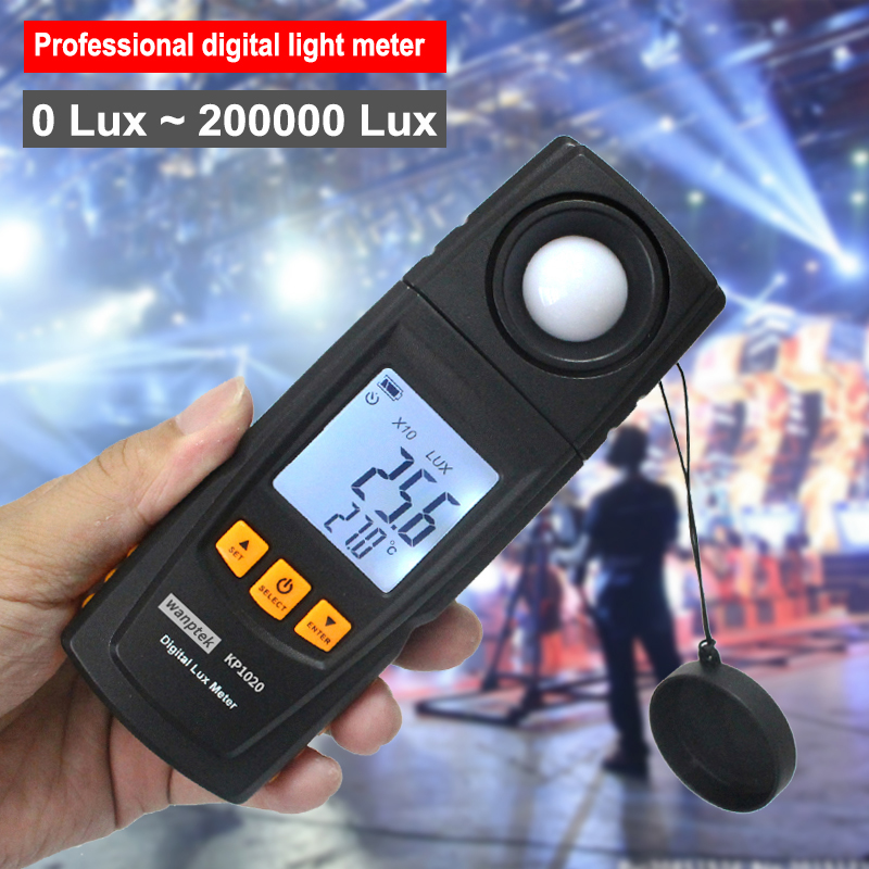 Hight Quality Handheld LCD Display Digital Lux Light Meter Photometer Measuring range 0~200000 Lux Light intensity instrument gm1020 lcd display handheld digital lux light meter photometer up to 200 000 lux wholesale
