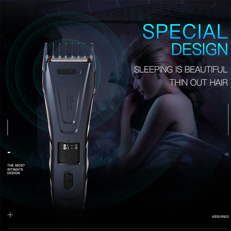 100-240V Electric Hair Trimmer Professional Hair Clipper Adjustable Beard Trimmer For Men Rechargeable Hair Cutting Machine