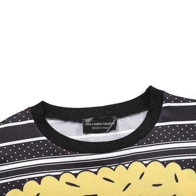 Épissage Nouveau T Longues shirt Fil Dames Taille Manches Robe Automne De Mode Femmes Dessinée O La cou Anime Plus Bande Picture Paillettes As 2018 Net À Robes zUZqwgvw