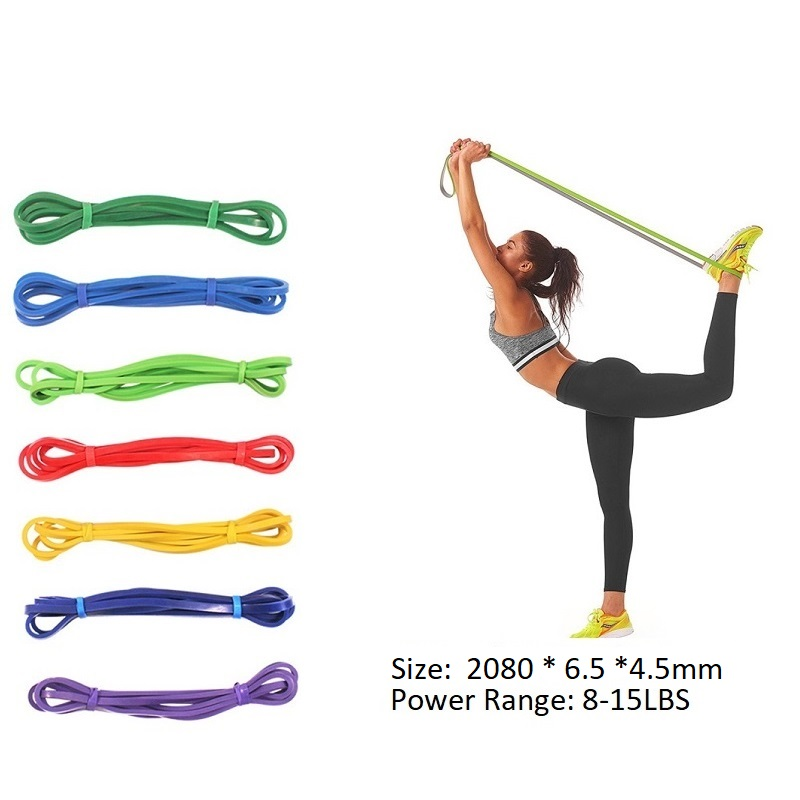 f40b8467e903e 8-15 LBS Pull Up Resistance Rubber Bands Elastic Loop Bands Gym Equipment  for Fitness