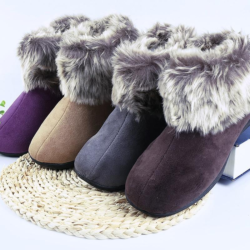 Acasă Papuci pentru femei Simulare de iarna Bărbați calde Home Papuci de interior Încălțăminte Pantofi din iarnă de încălțăminte din bumbac