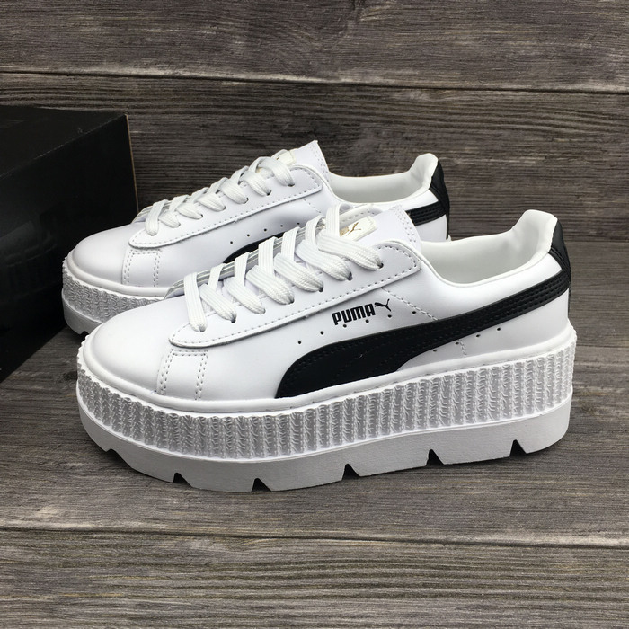 official photos b70a3 cff8a PUMA FENTY Suede Cleated Creeper Women's First Generation Rihanna Classic  Basket Suede Tone Simple Badminton Shoes