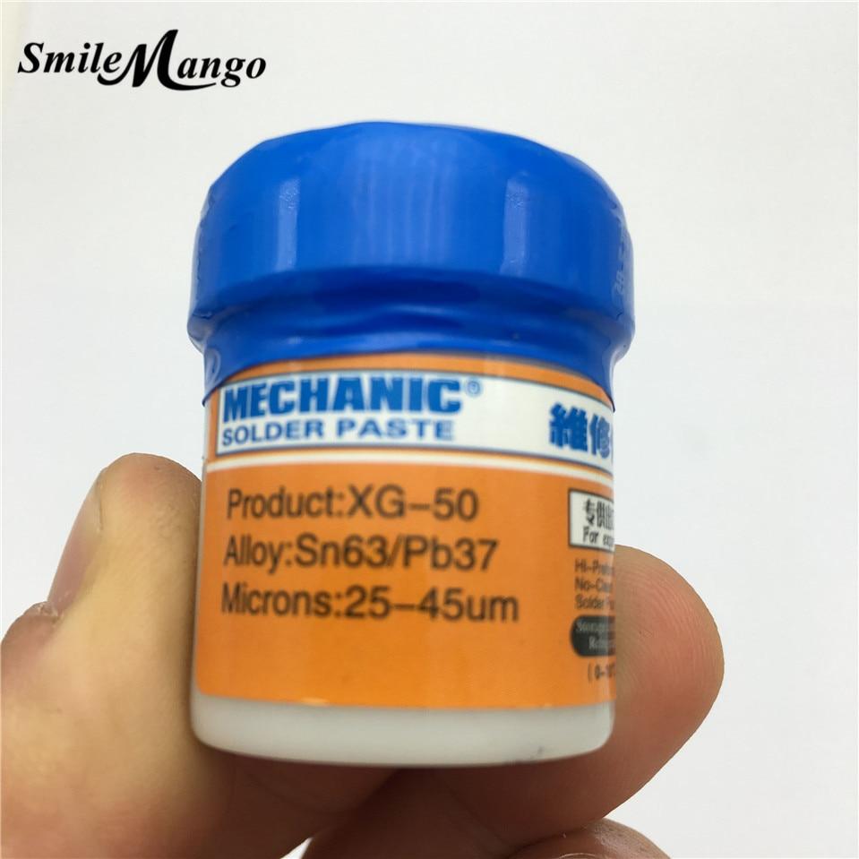 SmileMango 100% Original MECHANIC 35g Sn63/Pb67 Solder Paste Flux XG-50 For Hakko 936/Saike 852D++ Soldering Station
