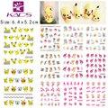 Etiquetas engomadas del clavo de dibujos animados Pikachu BLE1786-1796 y ratón y Chica de Moda pegatinas de uñas uñas de transferencia de agua etiqueta engomada del arte