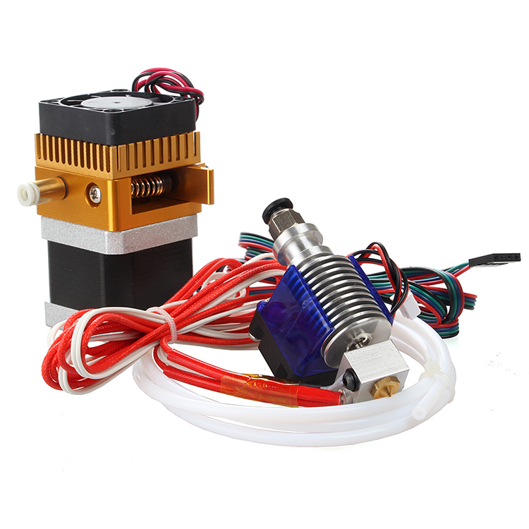 MK8 bowden extruder kit + V6 bowden hotend print head kit print nozzle M6 fittings for Reprap 3D printer 1.75mm new 12v e3d v6 3d printer extruder j head hotend 0 4mm nozzle for 1 75mm filament fan