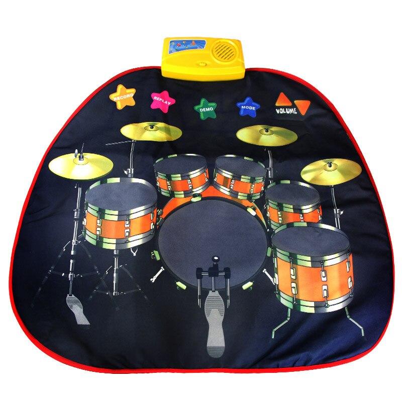 Engraçado Pé tread musicak instrumento Jazz tambor cobertor Crianças Brinquedos educação pai-filho brinquedos Pedal Musical Educacional