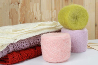 Wholesale 1 Balls Lot 200 Grams Natural Soft Milk Mohair Blended Cotton Yarn Thick Yarn Color
