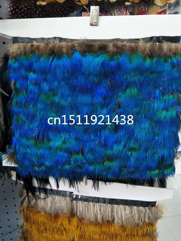 En gros Qualité 10 mètres naturel Paon plume Ruban décoratif 2-3 pouce/6-8 cm Largeur stade performance Vêtements accessoires