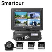 Smartour Auto scuola bus camion 360 macchina fotografica panoramica registratore di guida 4 della macchina fotografica dvr prima e dopo il video telecamera di retromarcia