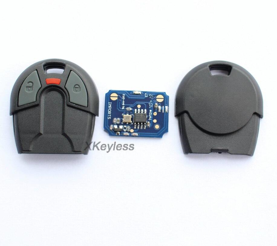 for Brazil old Positron car alarm remote key 433 92mhz forFiat 2 button style 10pcs Lot