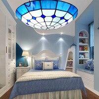 Mediterranean bedroom ceiling lamp, circular ceiling lamp, living room corridor, balcony furniture lighting lamp