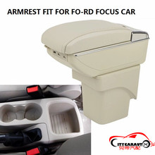 CITYCARAUTO BIGGEST SPACE+LUXURY+USB Car armrest box central Storage content box with cup holder USB FIT FOR FORD FOCUS 2006-13