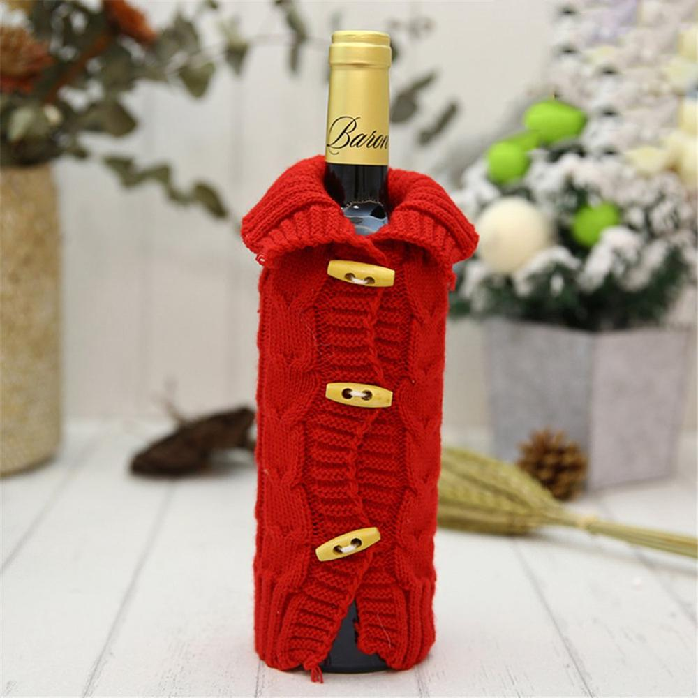 8 Christmas Decorations Wine Bottle Decor Bottle Cover Wine Bottle