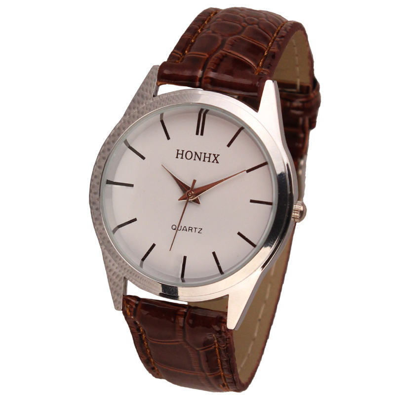 Simple Style Leather Watch Women Ladies Fashion Dress Quartz Wristwatches Roman Numerals Watches gift for Lovers #D high quality brand leather casual watch women ladies fashion dress quartz wristwatches roman numerals watches men gift unisex