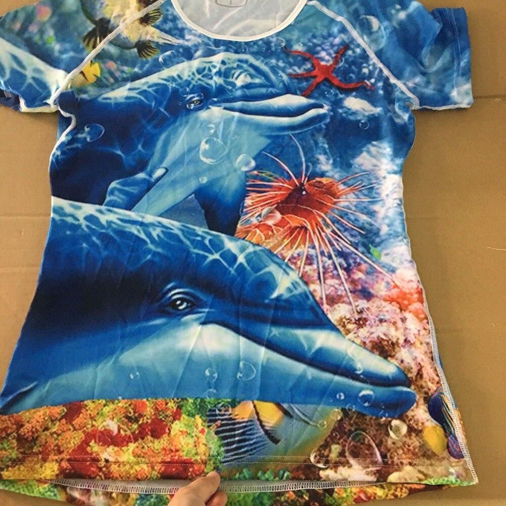 FORUDESIGNS Ամառային կանանց շապիկ Sea World - Կանացի հագուստ - Լուսանկար 3