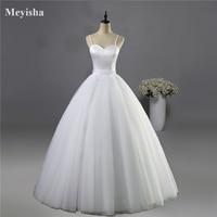 ZJ9086 2016 2017 Spaghetti Straps White Ivory Wedding Dress Beach Simple Wedding Dress For Bridal Wear