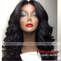7A High Quality Natural Free Apart Front Lace Body Wave Hair Wig Black Color Heat Resistant Wavy Hair Synthetic Lace Front Wigs