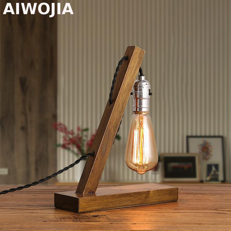 Vintage Edison Bulb Table Lamp: Table Lamps For Living Room Loft Vintage E27 Edison Bulb