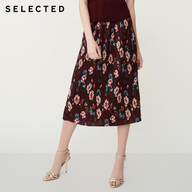 AUSGEWÄHLT Gedruckt Gefaltete Chiffon Rock S  41834C511-in Röcke aus Damenbekleidung bei  Gruppe 1