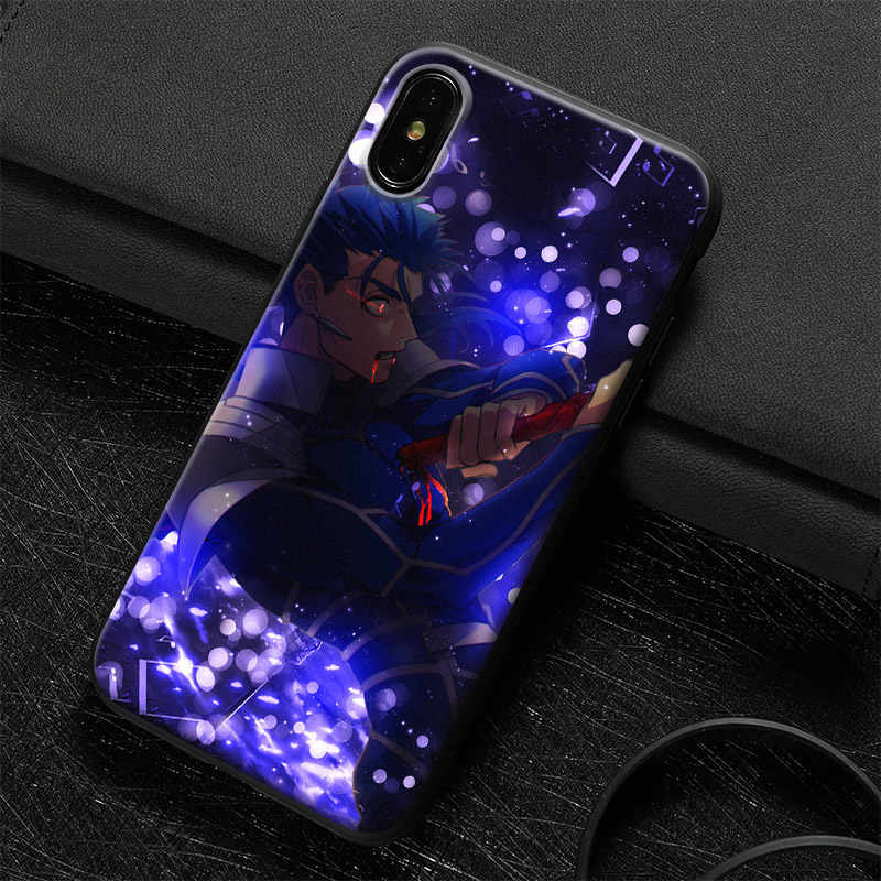 6ace5c0b07 ... Cu Chulainn Fate Grand Order Tempered Glass Soft Silicone Phone Case  Shell Cover For Apple iPhone ...