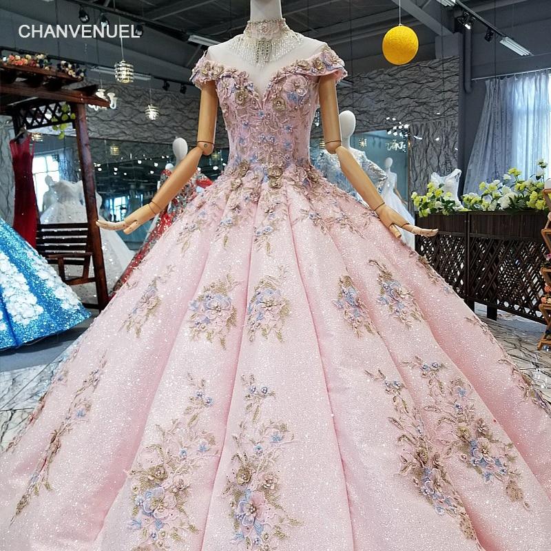 LS124100 розовый бальный наряд Свадебная вечеринка платье с открытыми плечами Милая Вечерние платья с кристально ожерелье формы кривой платье