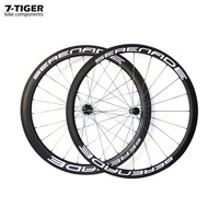 7 tiger carbon fiber 38mm clincher rims 50mm road bike wheels with Titanium spokes 700c wheelset straight pull hubs cn nipples