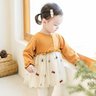 New Cute Baby Dress Newborn Baby Dresses Outfits Clothes for Girl Princess Lace First Birthday Girl Party Dresses Red Baby