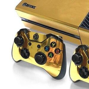Image 5 - Autocollant de peau brillant or pour contrôleur de Console Xbox ONE + vinyle autocollant Kinect Compatible avec console Xbox One