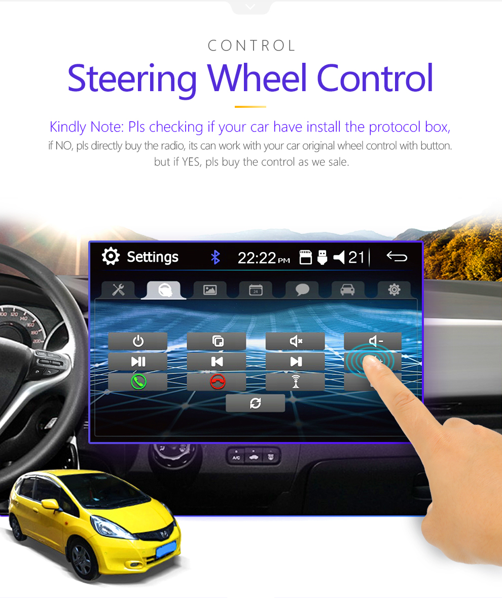 Mirror link Android 9.0 2 din car radio autoradio 7'' Multimedia Player Bluetooth handsfree FM/TF/USB Rearview Camera Car Radio